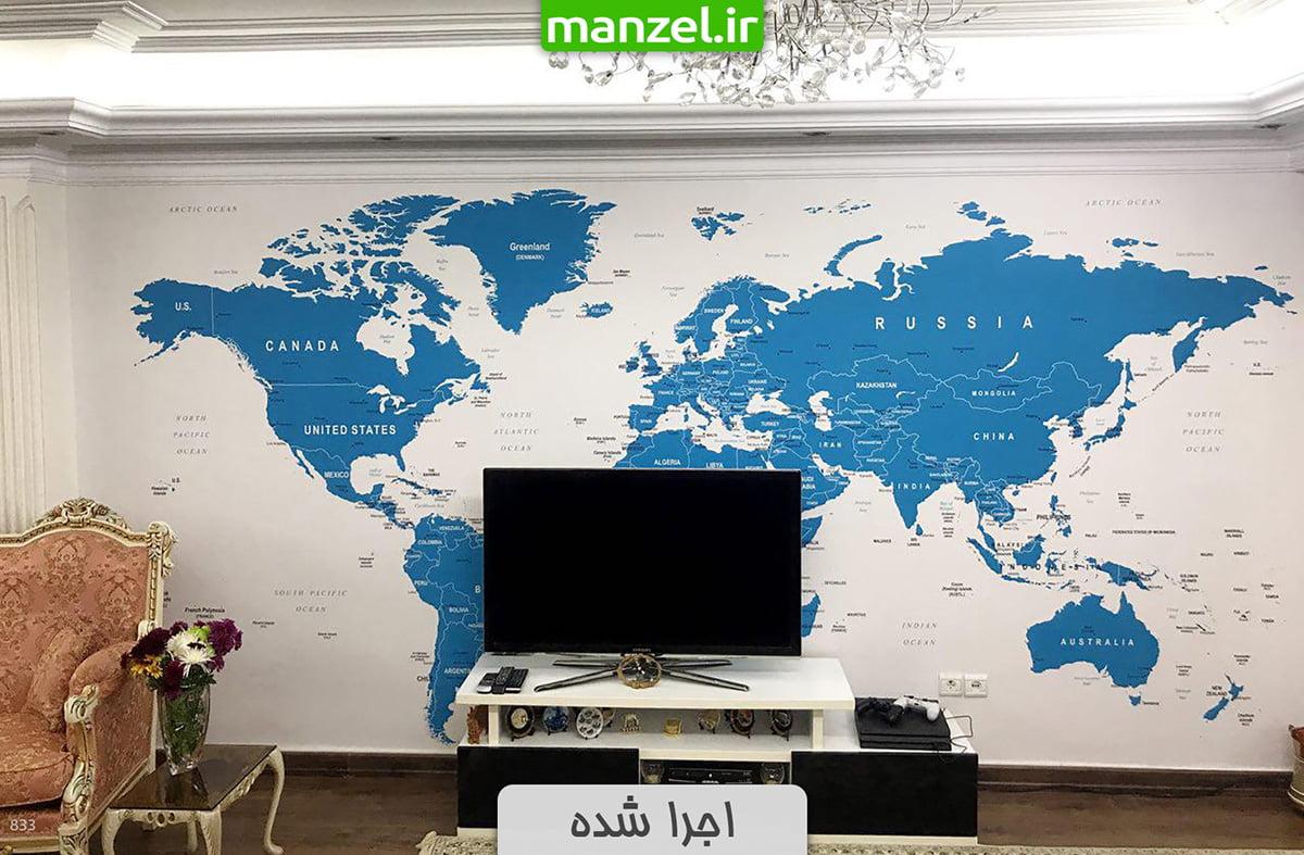 کاغذ دیواری نقشه جهان
