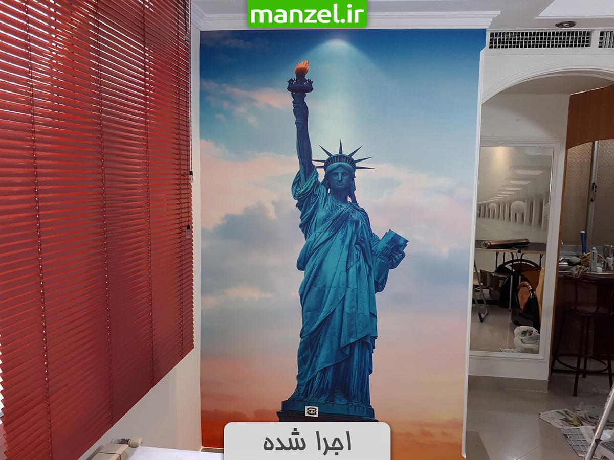 پوستر دیواری طرح مجسمه آزادی اجرا شده