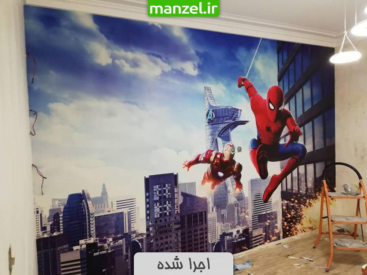 پوستر دیواری اجرا شده طرح مرد عنکبوتی