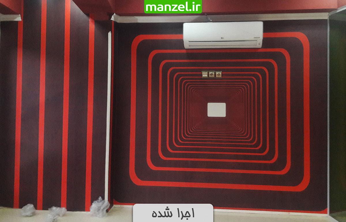 پوستر دیواری عمق دار اجرا شده