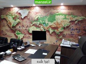 پوستر دیواری نقشه سه بعدی اجرا شده