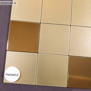 کاشی بین کابینتی طلایی آینه ای کد 211
