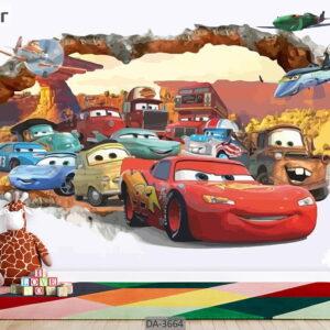 پوستر دیواری کارتونی طرح ماشین ها DA-3664