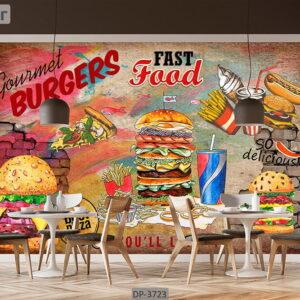 پوستر دیواری طرح فست فود DP-3723