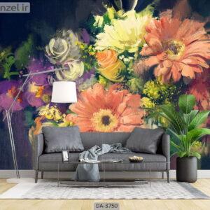 پوستر دیواری طرح نقاشی گل 3750-DA