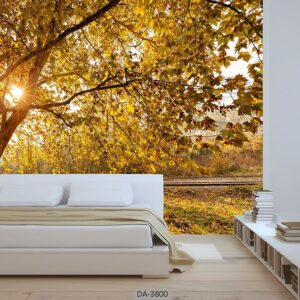 پوستر دیواری طرح جنگل پاییزی 3800-DA