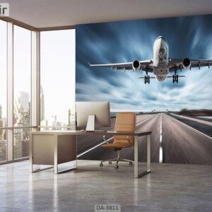 پوستر دیواری طرح هواپیما 3811-DA