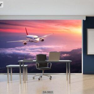 پوستر دیواری طرح هواپیما 3813-DA