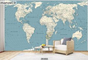 پوستر دیواری طرح نقشه جهان ۳۸۱۸-DP