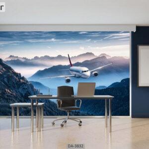 پوستر دیواری طرح هواپیما 3832-DA
