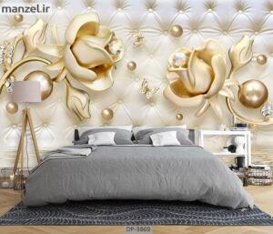 پوستر دیواری طرح گل فانتزی ۳۸۶۹-DP