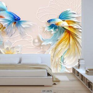 پوستر دیواری طرح ماهی 3875-DP