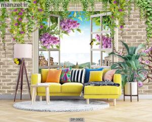 پوستر دیواری طرح پنجره مجازی ۳۹۰۲-DP