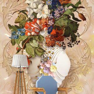 پوستر دیواری طرح گل طبیعی 3946-DP