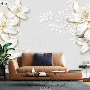 پوستر دیواری طرح گل فانتزی 3948-DP