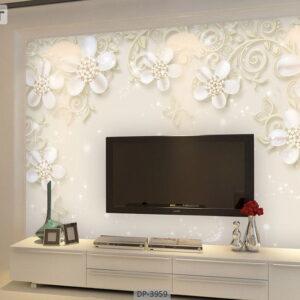 پوستر دیواری طرح گل فانتزی 3959-DP
