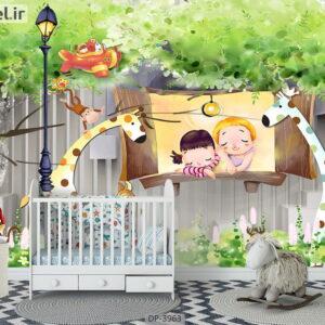 پوستر دیواری طرح کودک ۳۹۶۳-DP