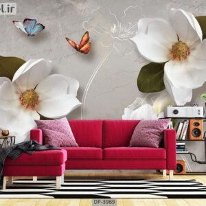 پوستر دیواری طرح گل طبیعی 3969-DP