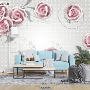 پوستر دیواری طرح گل رز 3975-DP