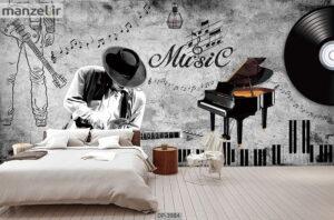 پوستر دیواری طرح موسیقی ۳۹۸۴-DP
