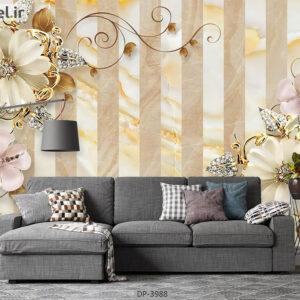 پوستر دیواری طرح گل فانتزی 3988-DP