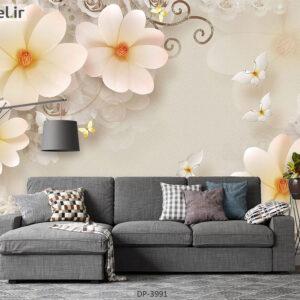پوستر دیواری طرح گل فانتزی 3991-DP