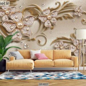 پوستر دیواری طرح گل فانتزی 4027-DP