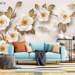 پوستر دیواری طرح گل طبیعی 4033-DP