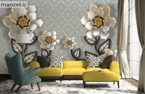 پوستر دیواری طرح گل فانتزی ۴۰۳۸-DP