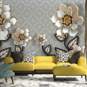 پوستر دیواری طرح گل فانتزی 4038-DP