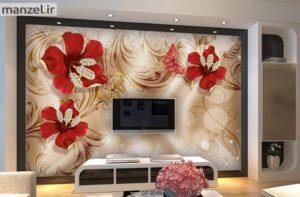 پوستر دیواری طرح گل فانتزی ۴۰۴۹-DP