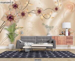 پوستر دیواری طرح گل فانتزی ۴۰۵۱-DP