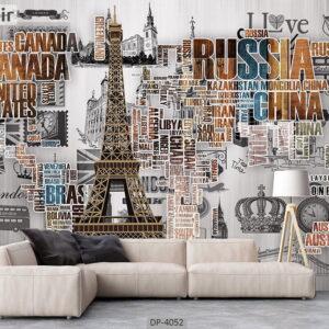 پوستر دیواری طرح اماکن دیدنی جهان 4052-DP