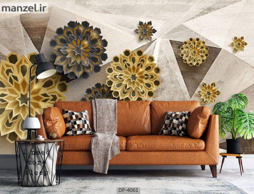 پوستر دیواری طرح اشکال هندسی 4061-DP