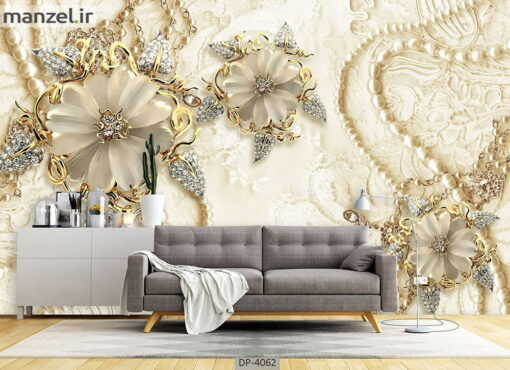 پوستر دیواری طرح گل فانتزی 4062-DP