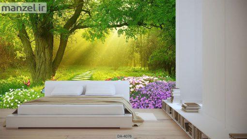 پوستر دیواری طرح جنگل 4076-DA