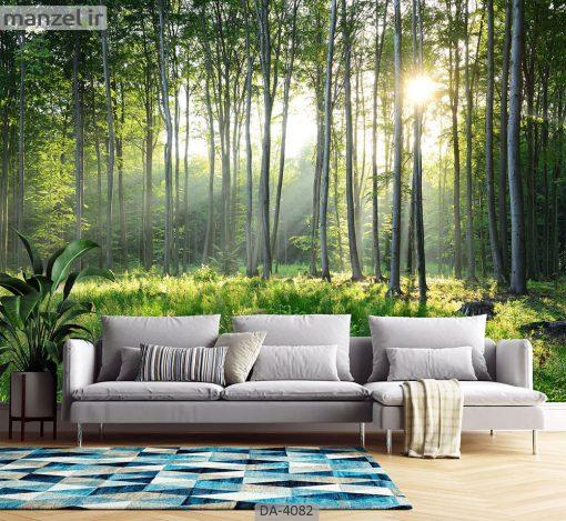 پوستر دیواری طرح جنگل 4082-DA
