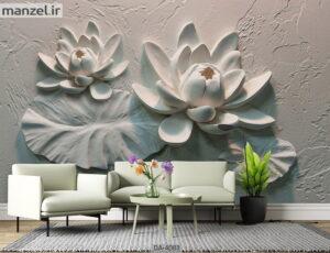 پوستر دیواری طرح گل فانتزی ۴۰۸۳-DA