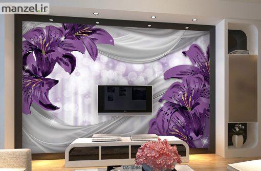 پوستر دیواری طرح گل فانتزی 4084-DA