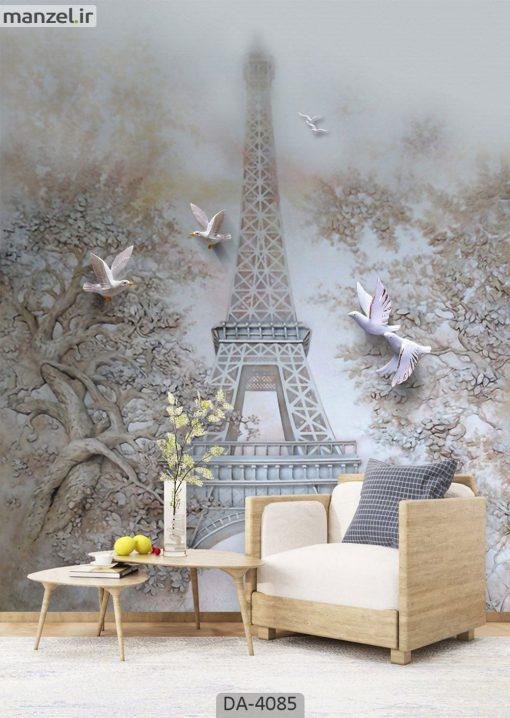 پوستر دیواری طرح برج ایفل 4085-DA
