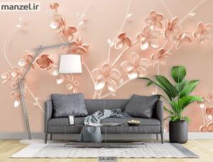 پوستر دیواری طرح گل فانتزی ۴۰۸۷-DA