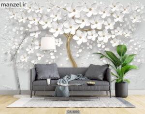 پوستر دیواری طرح گل فانتزی ۴۰۸۹-DA