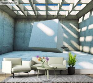 پوستر دیواری طرح عمق دار و هندسی ۴۰۹۵-DA