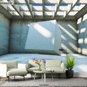پوستر دیواری طرح عمق دار و هندسی 4095-DA