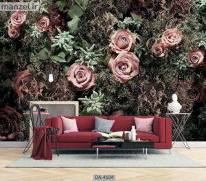 پوستر دیواری طرح گل رز ۴۱۰۴-DA