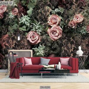 پوستر دیواری طرح گل رز 4104-DA