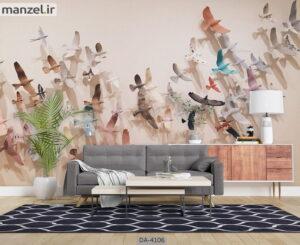 پوستر دیواری طرح پرندگان ۴۱۰۶-DA