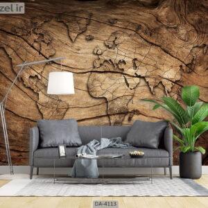 پوستر دیواری طرح چوب 4113-DA