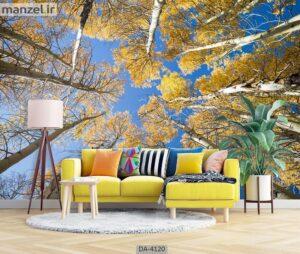 پوستر دیواری طرح درخت و آسمان ۴۱۲۰-DA