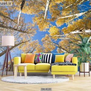 پوستر دیواری طرح درخت و آسمان 4120-DA